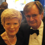 Janine Gobbell with film and TV star David McCallum (NCIS).