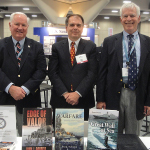 U.S. Naval Institute WEST conference, San Diego, California, February 10-12, 2015. John J. Gobbell, (left) at book signing with two other Naval Institute Press authors; Sam J. Tangredi and Bernard D. Cole.