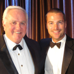 John and actor Chris O'Donnell, co-star of the CBS TV series, NCIS Los Angeles.