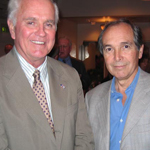 John J. Gobbell (left) with bestselling author Martin Cruz Smith (right).