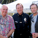John Gobbell (left) with Beverly Hills Police Chief, David L. Snowden (center), and movie and <em>The Walking Dead</em> actor, Michael Rooker (right).