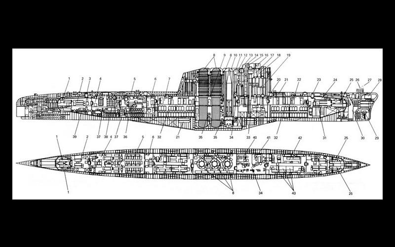 K-129 cutaway