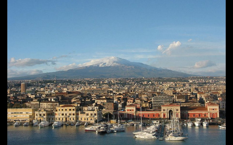 Mt Aetna from Catania Sicily