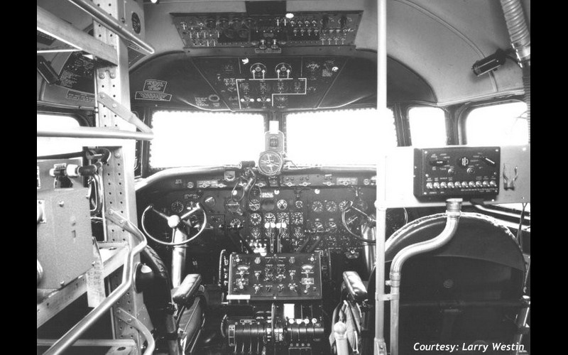 Todd Ingram's view of the C-54s cockpit