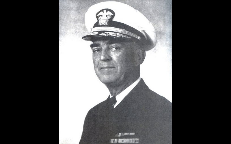 Vice Admiral Thomas C. Kinkaid, commander seventh fleet in USS Wasatch (AGC 9)