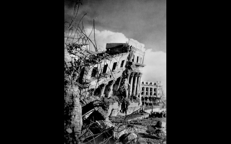 Legislative Building Manila Aug 1945
