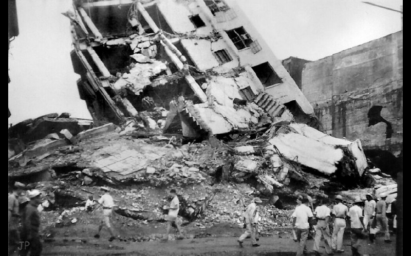 Wrecked Building - Manila Aug 1945