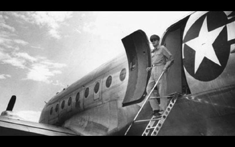 General Douglas MacArthur arrives unarmed at Atsugi Air Base Japan