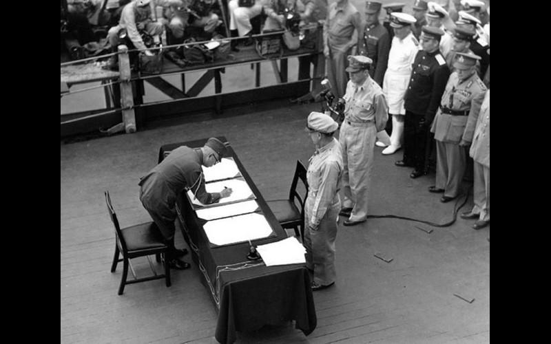 General Yoshijiro Umezu signs for all Imperial Japanese Armed Forces.