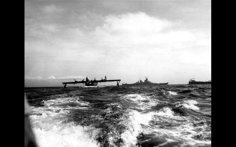 Admirals Nimitz and Halsey sent Admiral MCain home to Coronado California in Nimitz' personal PB2Y Coronado.