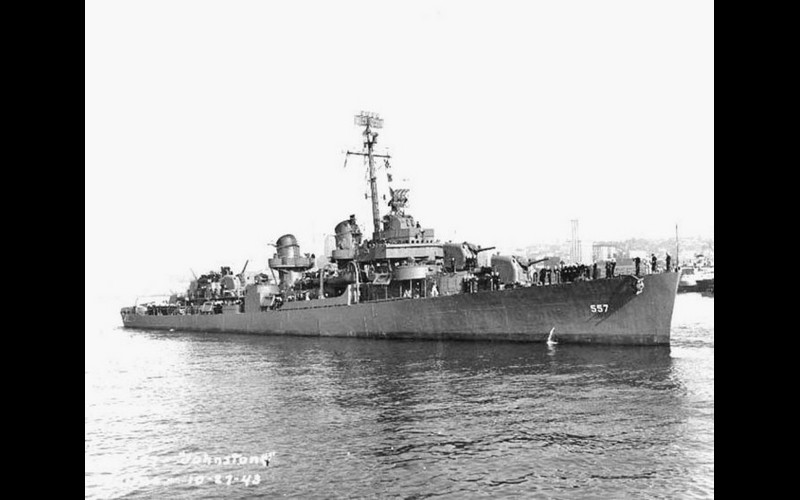 USS Johnston (DD 557), Fletcher-class destroyer, one of the seven destroyers screening TAFFY 3