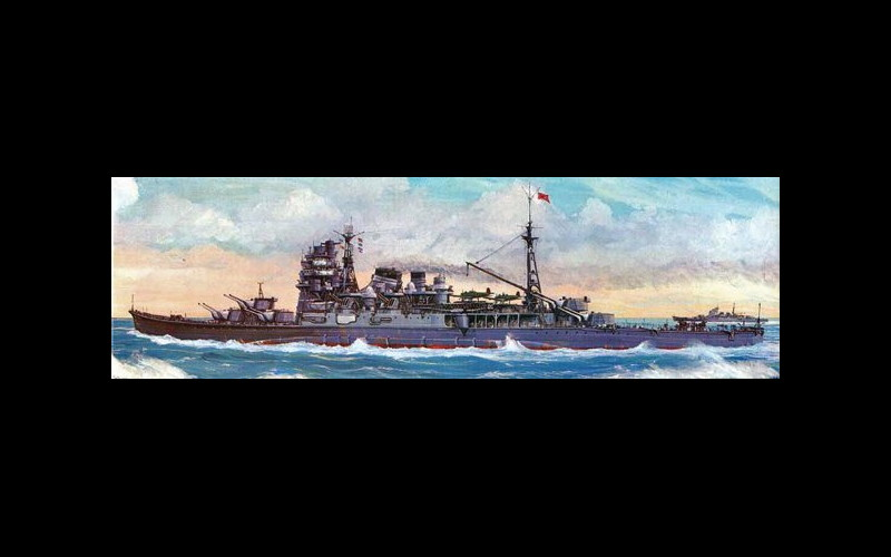 IJN heavy cruiser Atago, Kurita's flagship, sunk by Darter at Palawan Passage
