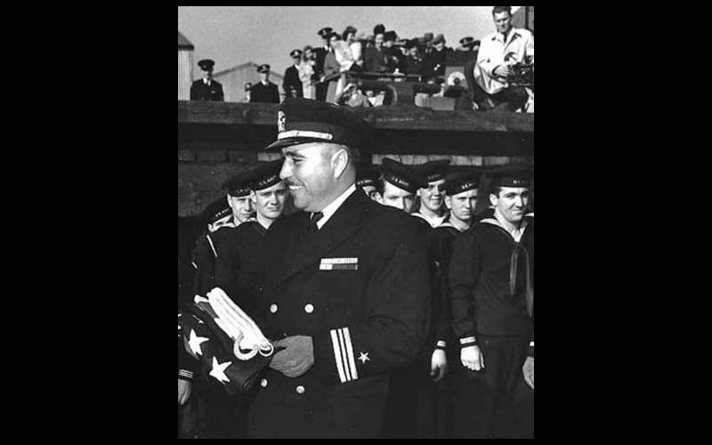 Commander Ernest E. Evans, commanding officer, USS Johnston (DD 557); awarded medal of honor posthumously
