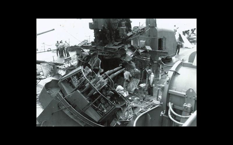 Mangled ship at Kerma Retto