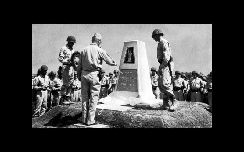 Ernie Pyle Momument on Ie Shima
