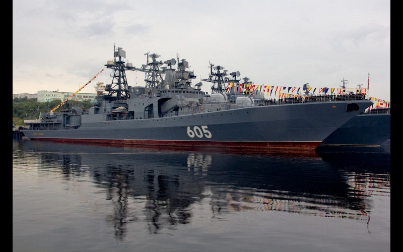 The Twins - Udaloy class destroyer.