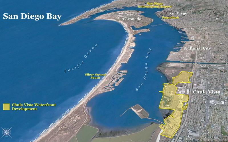 The Twins - San Diego Harbor.