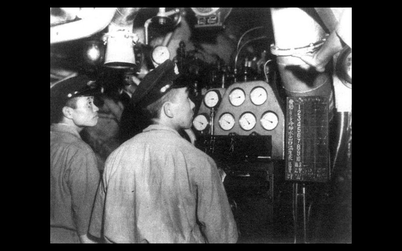 Auxiliary Engine Room, Japanese submarine