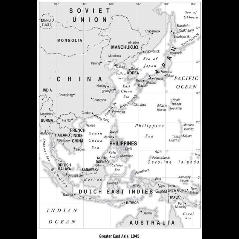Greater East Asia, 1945