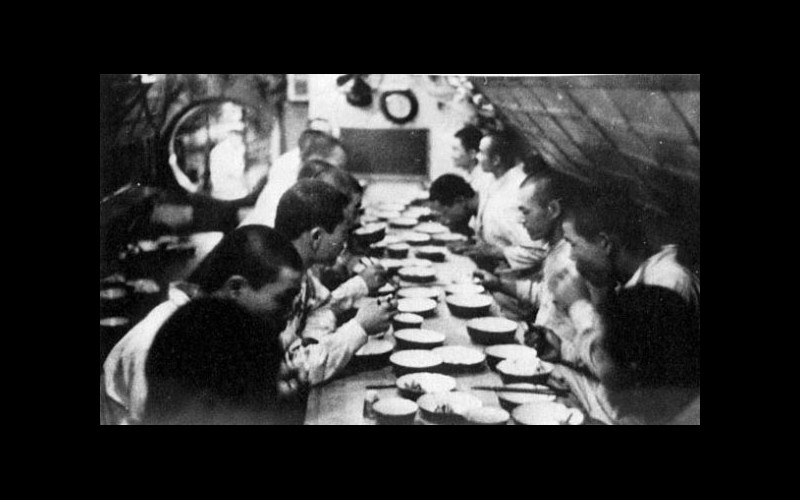 Japanese enlisted at a meal