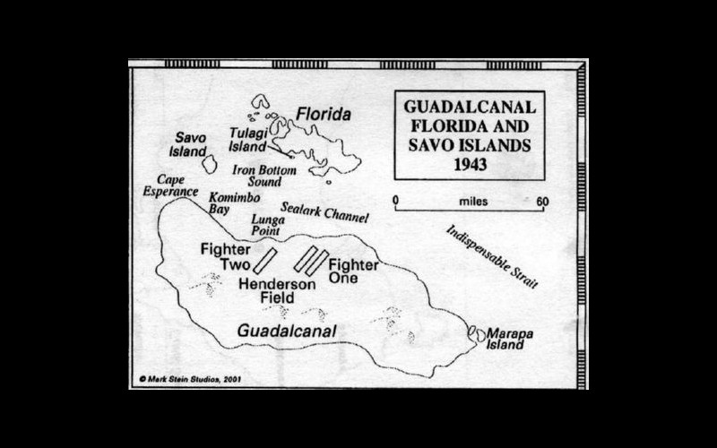 Guadalcanal, Florida, and Savo Islands, 1942