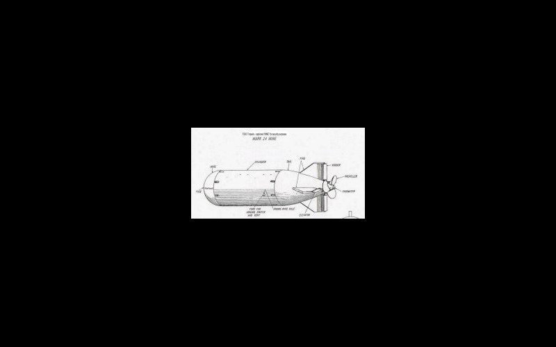 Mark 24, acoustic anti-submarine torpedo (FIDO) general arrangement (courtesy Bell Laboratories)
