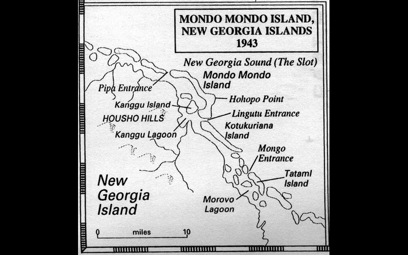 Mondo Mondo Island, New Georgia Islands 1943